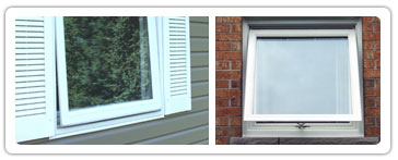 Awning Vinyl Replacement Windows | BEE Window® in Indiana