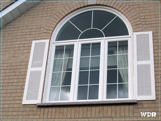 Round top windows toronto photo gallery home windows for Best vinyl replacement windows
