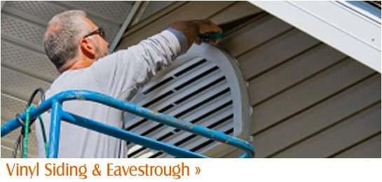 Vinyl Siding Eavestrough
